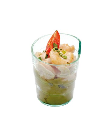 Cocktail de crevettes, mousse d'avocat
